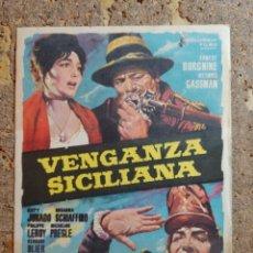 Cine: FOLLETO DE MANO DE LA PELICULA VENGANZA SICILIANA. Lote 294812718