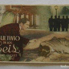 Cine: PROGRAMA DE CINE EL ULTIMO DE LOS SEIS. Lote 294823663