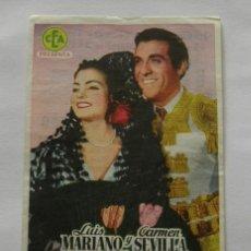 Cine: PROGRAMA DE CINE EL SUEÑO DE ANDALUCIA. Lote 294826778