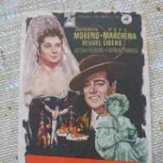 Cine: ANTOÑITA MORENO Y PEPE MARCHENA PROGRAMA DE MANO DE LA PELÍCULA LA REINA MORA.... Lote 295029873