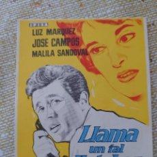 Cine: LUZ MARQUEZ PROGRAMA DE MANO DE LA PELÍCULA LLAMA UN TAL ESTEBAN..... Lote 295030323