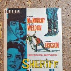 Cine: FOLLETO DE MANO DE LA PELICULA SHERIFF HORA H. Lote 295041163