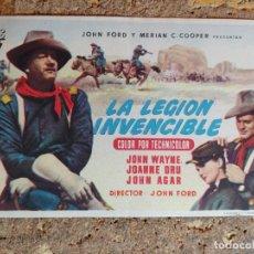 Cine: FOLLETO DE MANO DE LA PELICULA LA LEGION INVENCIBLE. Lote 295307733