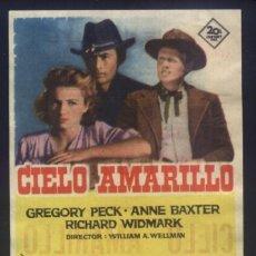 Cine: P-8292- CIELO AMARILLO (YELLOW SKY) (CINE NAPOLES) GREGORY PECK - ANNE BAXTER - RICHARD WIDMARK. Lote 295312923