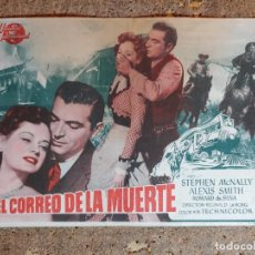 Cine: FOLLETO DE MANO DE LA PELICULA EL CORREO DE LA MUERTE. Lote 295330363