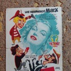 Cine: FOLLETO DE MANO DE LA PELICULA AMOR EN CONSERVA CON PUBLICIDAD. Lote 295334463