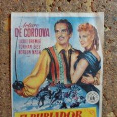 Cine: FOLLETO DE MANO DE LA PELICULA EL BURLADOR DE SICILIA CON PUBLICIDAD. Lote 295338218
