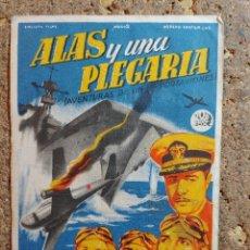 Cine: FOLLETO DE MANO DE LA PELICULA ALAS Y UNA PLEGARIA CON PUBLICIDAD. Lote 295338993