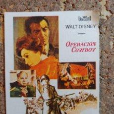 Cine: FOLLETO DE MANO DE LA PELICULA OPERACION COWBOY CON PUBLICIDAD. Lote 295339383