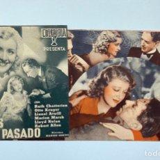 Cine: ADIÓS AL PASADO. PROGRAMA DOBLE COLUMBIA. PERFECTO ESTADO. Lote 295401858
