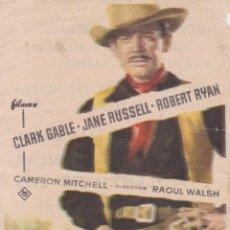 Cine: PROGRAMA DE CINE - LOS IMPLACABLES - CLARK GABLE - CINE COSO - ZARAGOZA - 1959. Lote 295458928