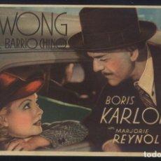 Cine: P-2003- MR. WONG EN EL BARRIO CHINO (MR. WONG IN CHINATOWN) BORIS KARLOFF. Lote 295516853