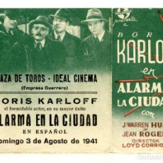 Cine: ALARMA EN LA CIUDAD,CON BORIS KARLOFF.. Lote 295542458
