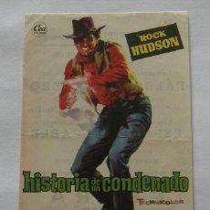 Cine: PROGRAMA DE CINE HISTORIA DE UN CONDENADO. Lote 295582743