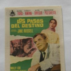 Cine: PROGRAMA DE CINE LOS PASOS DEL DESTINO. Lote 295585488