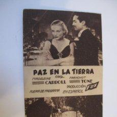 Cine: 964 PROGRAMA DE MANO ORIGINAL EL DE LA FOTO. Lote 295720263