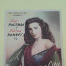 Cine: LA EXTRAÑA CITA ERIC PORTMAN ORIGINAL C.P. TEATRO FLORIDA IRUN. Lote 295726103