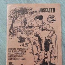 Cine: EL RUISEÑOR DE LAS CUMBRES, JOSELITO. Lote 295845228
