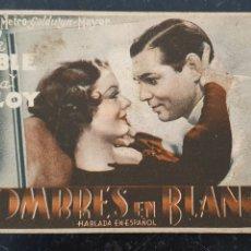 Cine: HOMBRES EN BLANCO - CLARK GABLE Y MYRNA LOY - TEATRE MONUMENTAL MATARÓ - 1936. Lote 295855243
