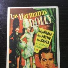 Cine: LAS HERMANAS DOLLY - PROGRAMA DE CINE BADALONA C/P 1952. Lote 296016718