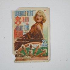 Cine: PROGRAMA DE CINE - LA ESTRELLA DEL MOULIN ROUGE - CONSTANCE BENNETT - AÑO 1936. Lote 296554363