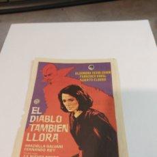 Cine: PROGRAMA CINE MONTERROSA REUS, EL DIABLO TAMBIEN LLORA 1963. Lote 296624888