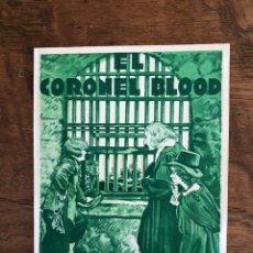 Cine: PROGRAMA DE CINE DOBLE, EL CORONEL BLOOD. Lote 296629158