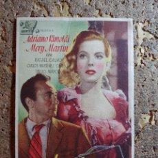 Foglietti di film di film antichi di cinema: FOLLETO DE MANO DE LA PELICULA EL ANGEL GRIS. Lote 296685123