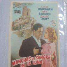 Cine: JOSÉ BODALO PROGRAMA DE MANO DE LA PELÍCULA MANCHAS DE SANGRE EN LA LUNA............ Lote 296729198