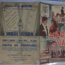 Cine: AMPARITO RIVELLES PROGRAMA DE MANO DOBLE DE LA PELÍCULA MARI JUANA............ Lote 296730623