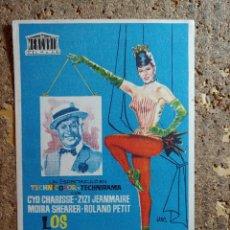 Cine: FOLLETO DE MANO DE LA PELICULA LOS BALLETS DE PARIS CON PUBLICIDAD. Lote 296770838