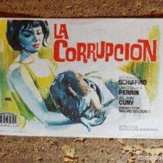 Cine: FOLLETO DE MANO DE LA PELICULA LA CORRUPCION CON PUBLICIDAD. Lote 296773193