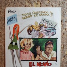 Cine: FOLLETO DE MANO DE LA PELICULA EL NOVIO DE MAMA CON PUBLICIDAD. Lote 296773503