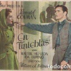 Cine: PROGRAMA DE MANO. EN TINIEBLAS. PC-4889. Lote 297089323