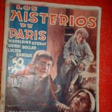 Cine: ANTIGUO FOTO FILMS -LOS MISTERIOS DE PARIS- . Lote 269774
