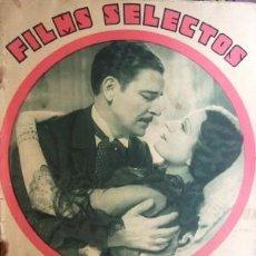 Cine: FILMS SELECTOS Nº 179 FECHA 17 MARZO 1934. Lote 22106587