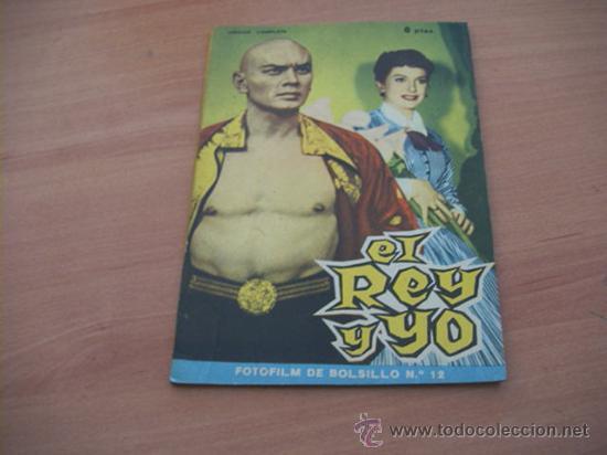 EL REY Y YO ( DEBORAH KERR, YUL BRYMMER)FOTOFILM DE BOLSILLO Nº 12 ED. MANDOLINA (Cine - Foto-Films y Cine-Novelas)
