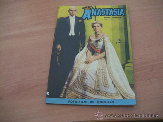 ANASTASIA ( INGRID BERGMAN, YUL BRYNNER)FOTOFILM DE BOLSILLO Nº 6 ED. MANDOLINA (Cine - Foto-Films y Cine-Novelas)