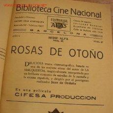 Cine: TOMO CON 7 NOVELAS ILUSTRADAS- CON MÁS DE 65 PÁG. C/U.-BIBL. CINE NACIONAL Y OTRAS. Lote 25229601