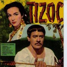 Cine: TIZOC. CANCIONERO Y ARGUMENTO. FHER 1959. Lote 19571811