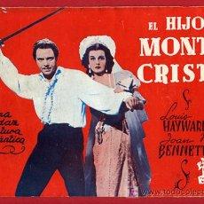 Cine: REVISTA FOTO FIML, CINE EL HIJO DE MONTECRISTO , EDICIONES BISTAGNE , ORIGINAL, PELICULA GRAFICA. Lote 198884101
