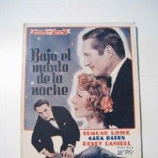 Cine: BAJO EL MANTO DE LA NOCHE - CINE NOVELA - ALAS. Lote 20368165
