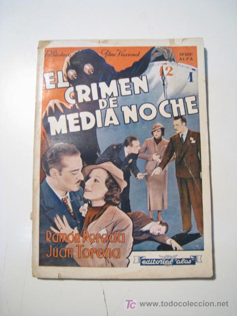 EL CRIMEN DE MEDIANOCHE - CINE NOVELA - ALAS (Cine - Foto-Films y Cine-Novelas)