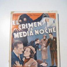 Cine: EL CRIMEN DE MEDIANOCHE - CINE NOVELA - ALAS. Lote 20368171