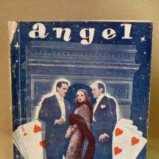 Cine: NOVELA CINEMATOGRAFICA, ANGEL, EDICIONES RIALTO, CINE, MARLENE DIETRICH, 1942. Lote 26234437