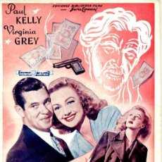 Cine: PAUL KELLY - VIRGINIA GREY : CRIMEN O SUICIDIO (C. 1950). Lote 26585676