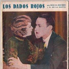 Cinema: OL04 LOS DADOS ROJOS ROD LA ROCQUE MARGUERITE DE LA MOTTE NOVELA CON FOTOS BIBLIOTECA PERLA Nº 38. Lote 29042209
