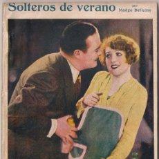 Cinema: OL09 SOLTEROS DE VERANO MADGE BELLAMY NOVELA CON FOTOS BIBLIOTECA PERLA Nº 48. Lote 29047289