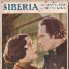Cinema: OL11 SIBERIA ALMA RUBENS EDMUND LOWE NOVELA CON FOTOS BIBLIOTECA PERLA Nº 30. Lote 29047470
