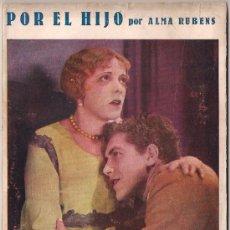Cinema: OL13 POR EL HIJO ALMA RUBENS WALTER PIDGEON NOVELA CON FOTOS BIBLIOTECA PERLA Nº53. Lote 29047675